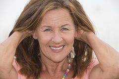 Attractive confident senior woman portrait Royalty Free Stock Photography