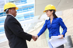 Attractive Construction Team Royalty Free Stock Images