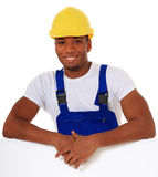Attractive construction worker Stock Photos