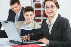 Attractive consultant Royalty Free Stock Photography