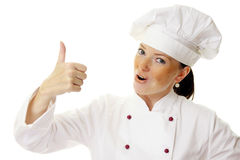 Attractive cook woman Royalty Free Stock Photography