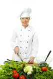 Attractive cook woman Royalty Free Stock Images
