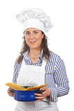 Attractive cook woman Stock Photos