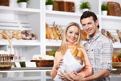 The attractive couple Stock Images