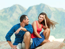 Attractive couple royalty free stock photos