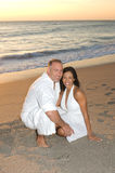 Attractive Couple. Smiling at the Beach Stock Image