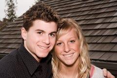 Attractive couple. Cute teenage couple Stock Image