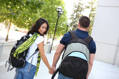 Free Attractive Couple At School Library Stock Images - 10669904