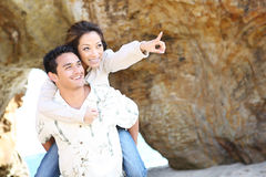 Attractive Couple at Beach Stock Image