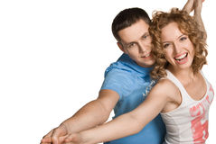 Attractive couple being playful Royalty Free Stock Image