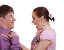 Attractive couple being playful Stock Photos