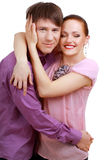 Attractive couple being playful Royalty Free Stock Images
