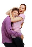 Attractive couple being playful Stock Photography