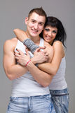 Attractive couple being playful Stock Image