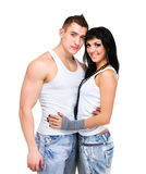Attractive couple being playful Stock Images