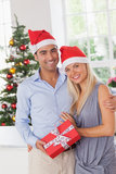 Attractive couple at christmas Royalty Free Stock Photos