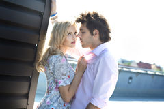 Attractive couple on a date Royalty Free Stock Photo