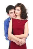 Attractive couple embracing Stock Photography