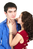 Attractive couple embracing Royalty Free Stock Image