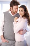 Attractive couple embracing Stock Photos