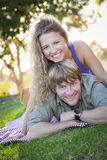 An Attractive Couple Enjoying A Day in the Park Royalty Free Stock Photo