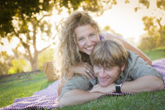 An Attractive Couple Enjoying A Day in the Park Royalty Free Stock Photography