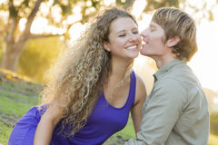 An Attractive Couple Enjoying A Day in the Park Stock Photography