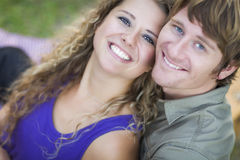 An Attractive Couple Enjoying A Day in the Park Stock Photos