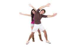 Attractive couple excercising Stock Image