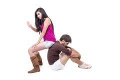 Attractive couple excercising Stock Photo