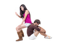 Attractive couple excercising Royalty Free Stock Photography