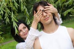 attractive couple happy smiling young Стоковое Изображение