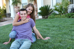 Attractive Couple at Home Stock Images