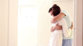Attractive couple hugging with affection stock video footage