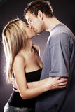 Attractive Couple Kissing Stock Photography