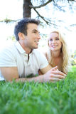 Attractive Couple in Love (Focus on Woman) Royalty Free Stock Photos