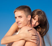 Attractive couple outdoors Royalty Free Stock Photo