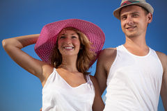 Attractive couple on outdoors Royalty Free Stock Photos