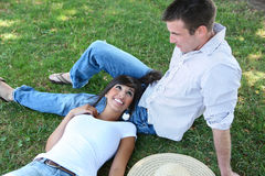 Attractive Couple in Park Stock Image
