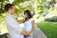 Attractive Couple in Park Stock Photography
