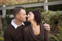 Attractive Couple Portrait in Park Stock Images