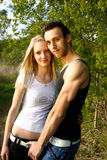 Attractive couple portraits Stock Images