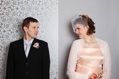 Attractive couple portraits Royalty Free Stock Image