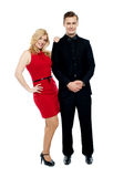 Attractive couple posing in party wear dress Stock Photography