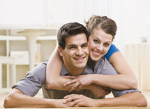 Attractive Couple Posing Together Stock Images