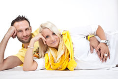 Attractive couple. pregnant mother and happy father Royalty Free Stock Photos