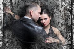 Love and passionate tango Royalty Free Stock Image