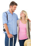 Attractive couple ready to go on vacation Royalty Free Stock Image