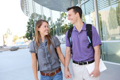 Attractive Couple at School Library Stock Image