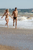 Attractive couple at the sea Stock Image